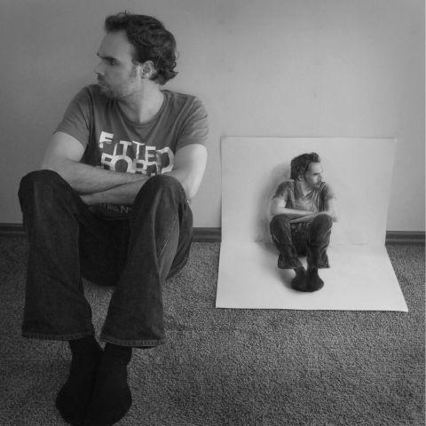 Auto retrato de Ramin Bruins en 3D