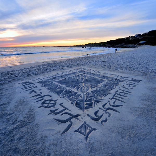 dibujos en arena