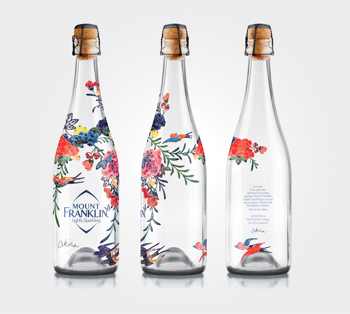 diseño botella de agua mount franklin lightly sparkling 1