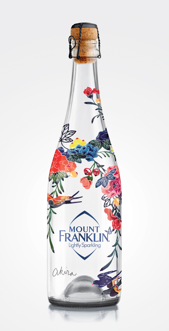 Diseño para botella de agua Mount Franklin lightly sparkling 2