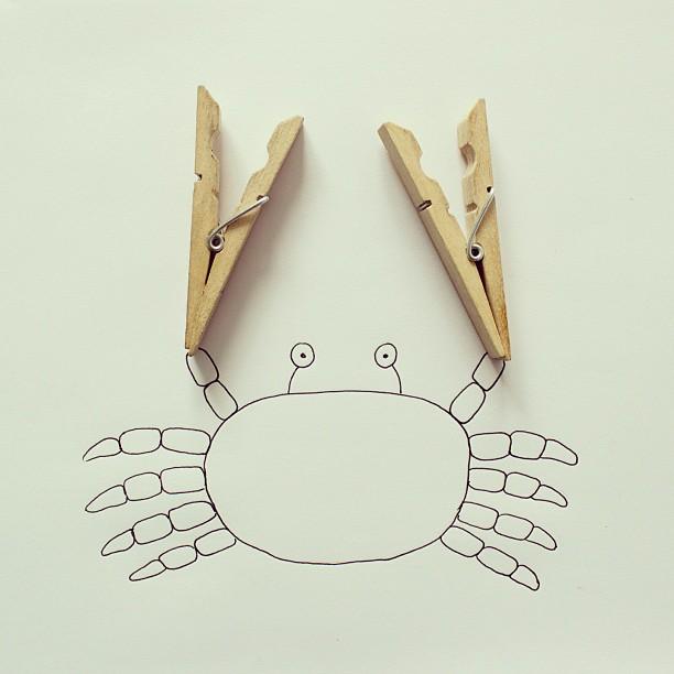 fotos conceptuales pinzas cangrejo