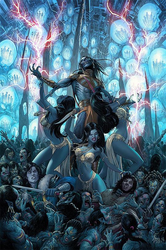 ilustraciones nisachar zombies avatar