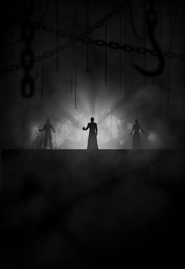 ilustraciones noir matrix