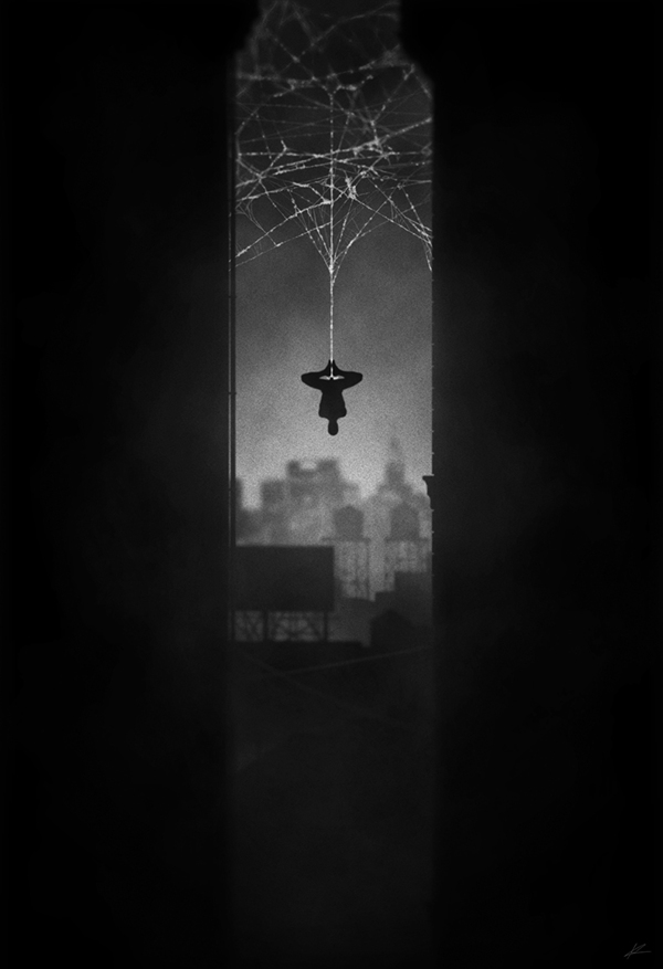 ilustraciones noir spiderman