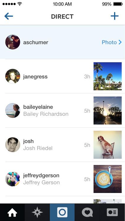 nueva función Instagram Direct
