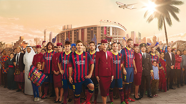 Making of comercial del Barcelona y Qatar airways