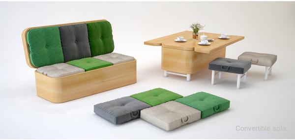 Sofa convertible, multi usos por Julia Kononenko