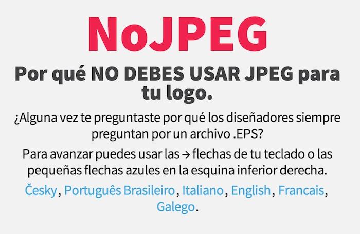 nojpeg, no utilizar logos JPG