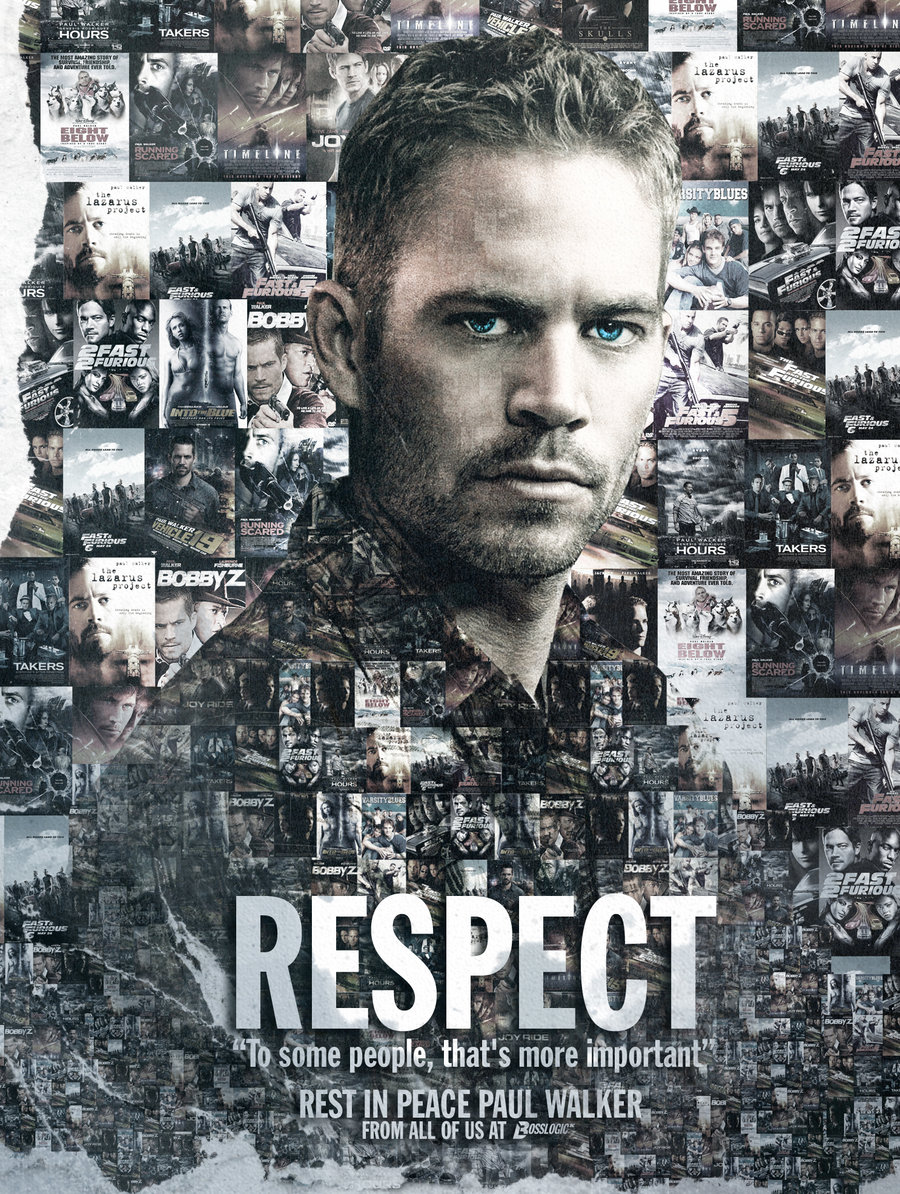 Poster en honor a Paul Walker