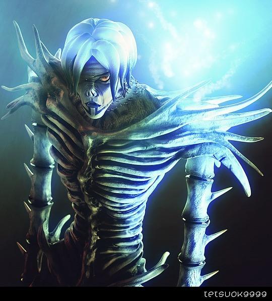 personajes 3D villano esqueleto