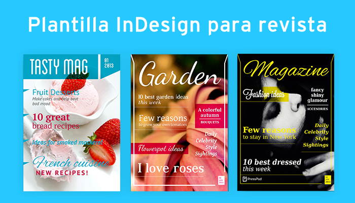 Plantilla InDesign para revista
