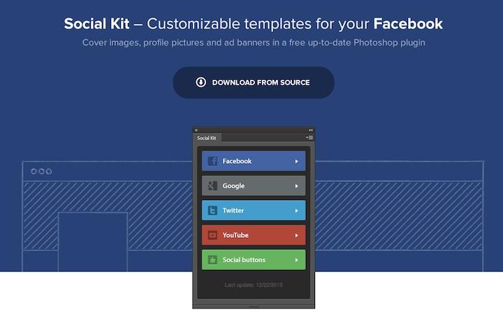 social kit, plugin photoshop para diseñar perfiles de redes sociales