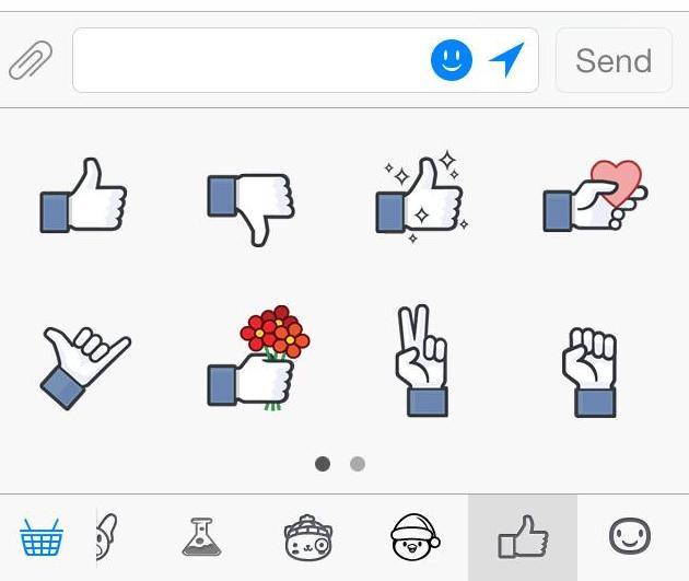 nuevos stickers de Facebook