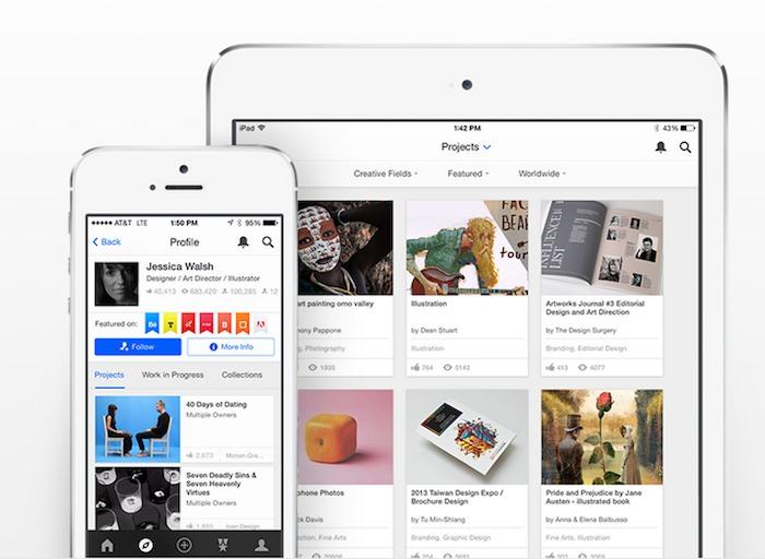 Behance para iPad