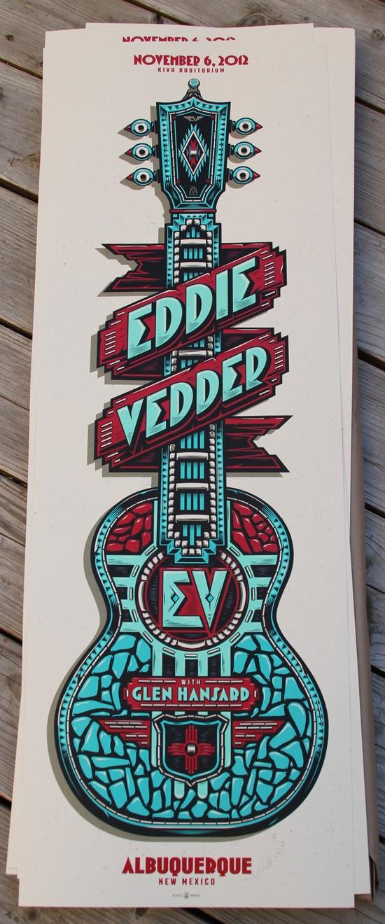 Eddie Vedder's Albuquerque Poster