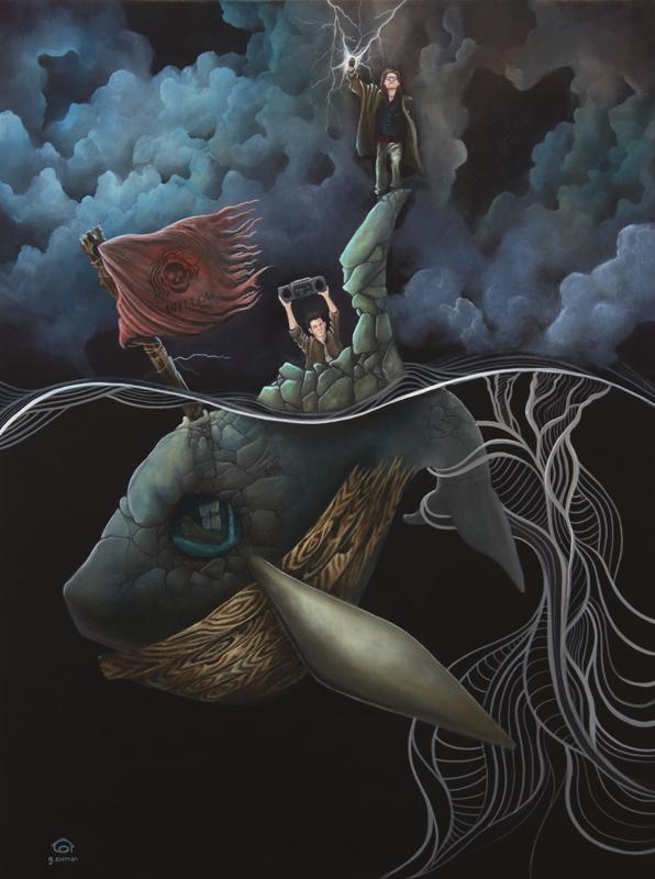 Graham Curran ilustración de ballena