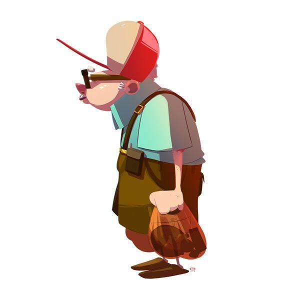 Ilustraciones de personajes por Ido Yehimovitz, abuelo