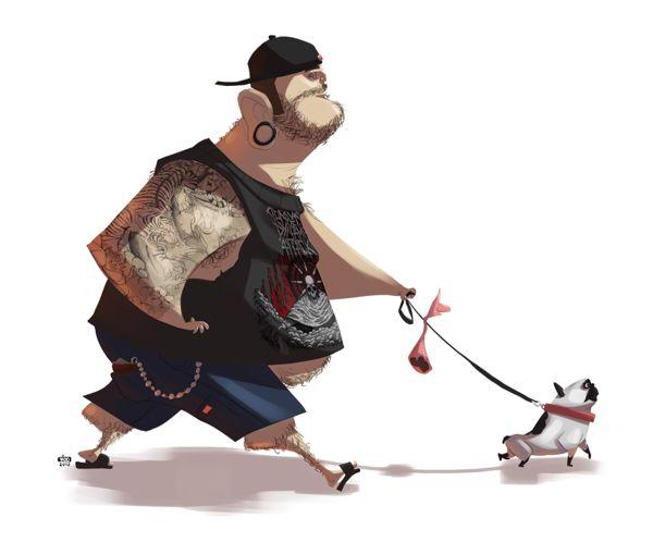 Ilustraciones de personajes por Ido Yehimovitz