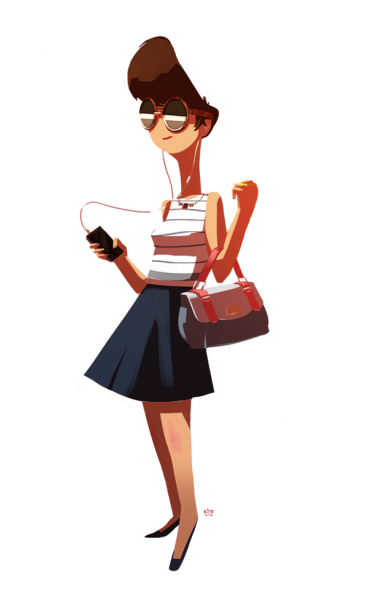 Ido Yehimovitz mujer con ipod