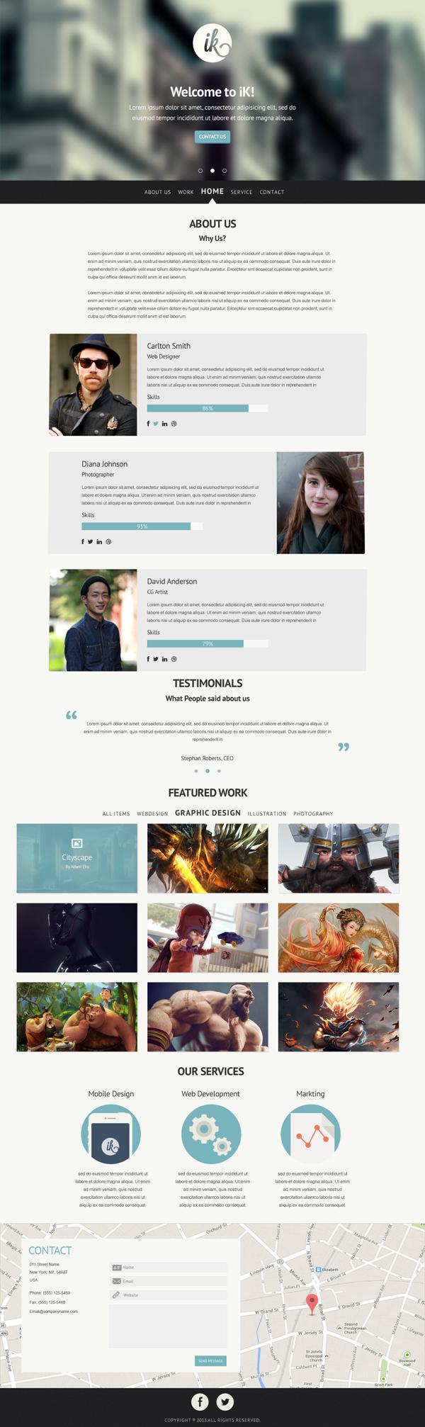 Plantilla PSD para diseños web multi proposito