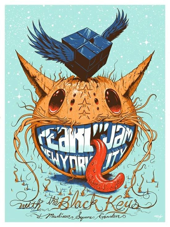 Pearl Jam poster por Jeff Soto