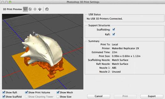 Photoshop CC impresión 3D