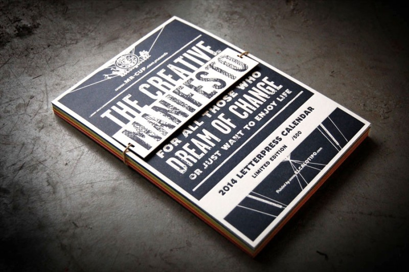The Creative Manifesto - 2014 Letterpress Calendar