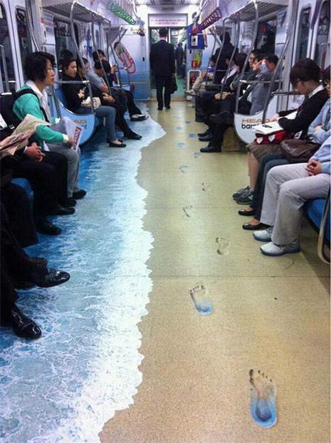 ambient marketing metro
