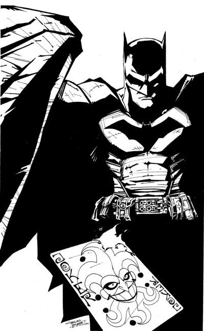 batman blanco y negro