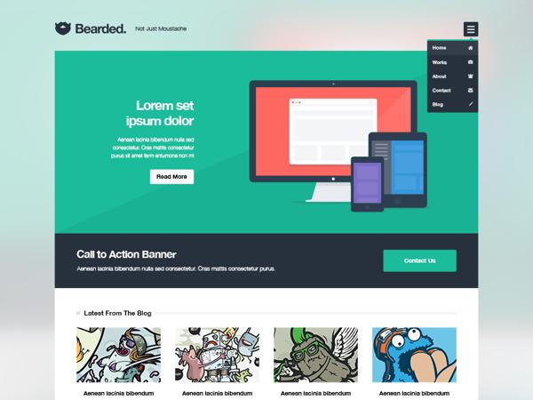 Bearded, Plantillas PSD de diseño web