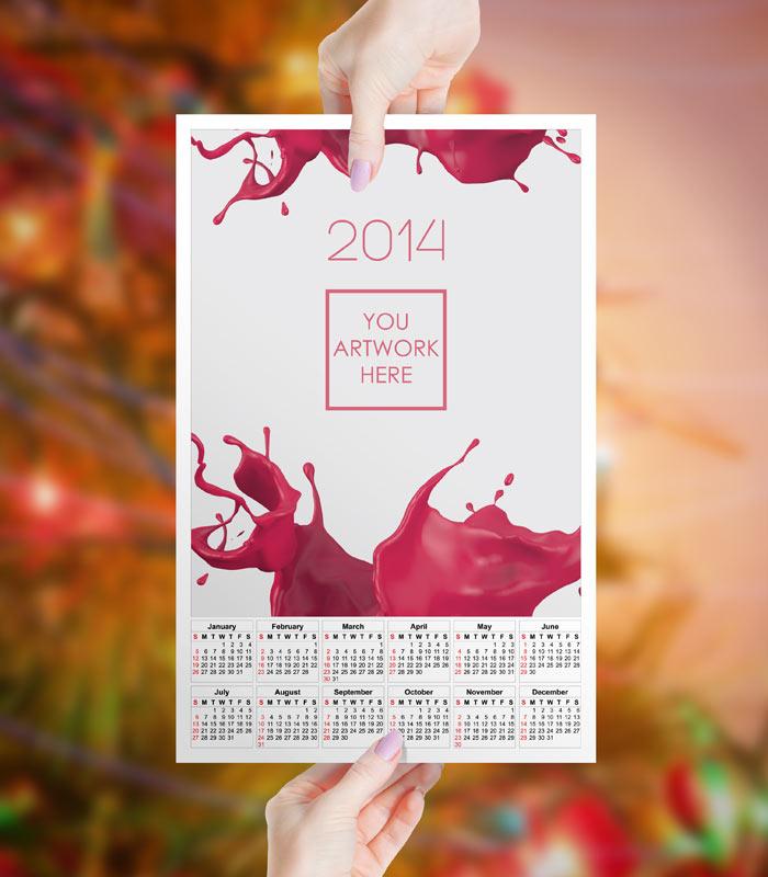 Plantilla para calendario 2014 en PSD, AI y PDF por GemGFX