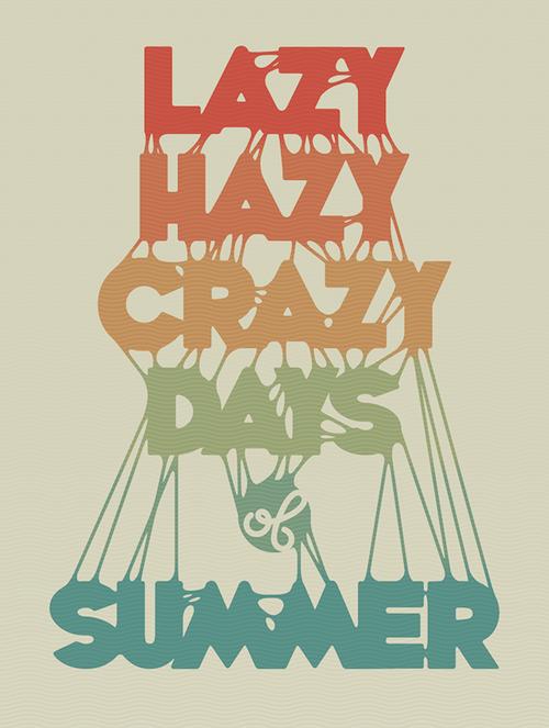Tutorial de Illustrator para crear un poster con estilo veraniego utilizando tipografías