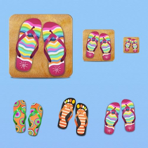 Tutorial para crear iconos de sandalias de playa