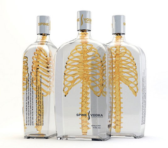 diseños de packaging Spine Vodka