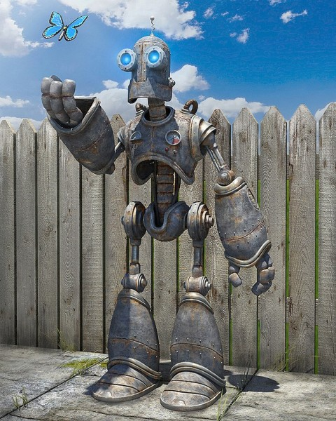 diseños digitales Tyler Bolyard robot