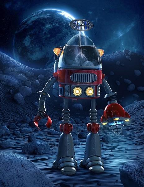 diseños digitales Tyler Bolyard robot espacial