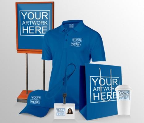 Mockup para aplicar publicidad en elementos: Camisa, Bolsa, Gorra, Vaso, Porta poster