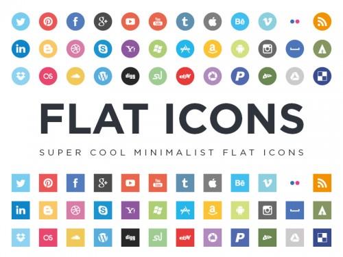 Paquete de iconos Flat de Redes Sociales