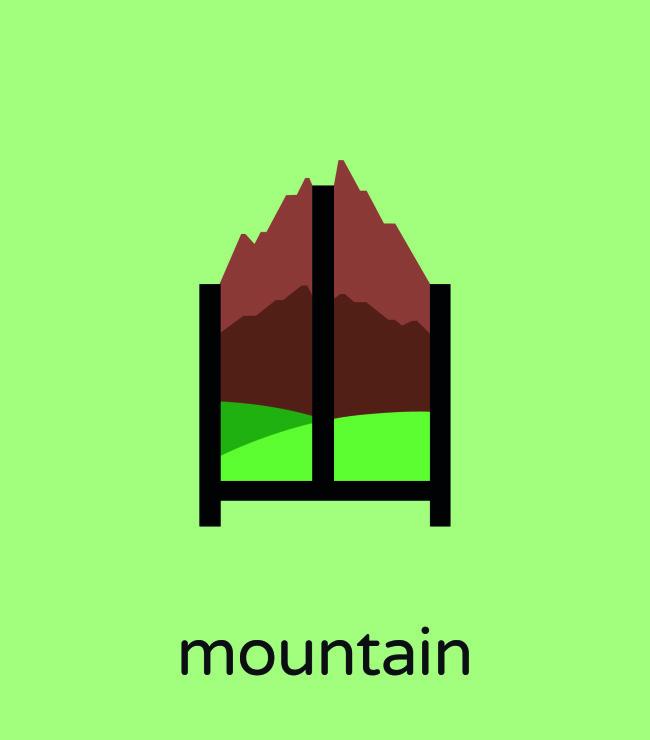 ilustraciones aprender chino montaña