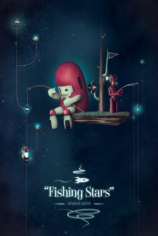 ilustraciones fishing stars