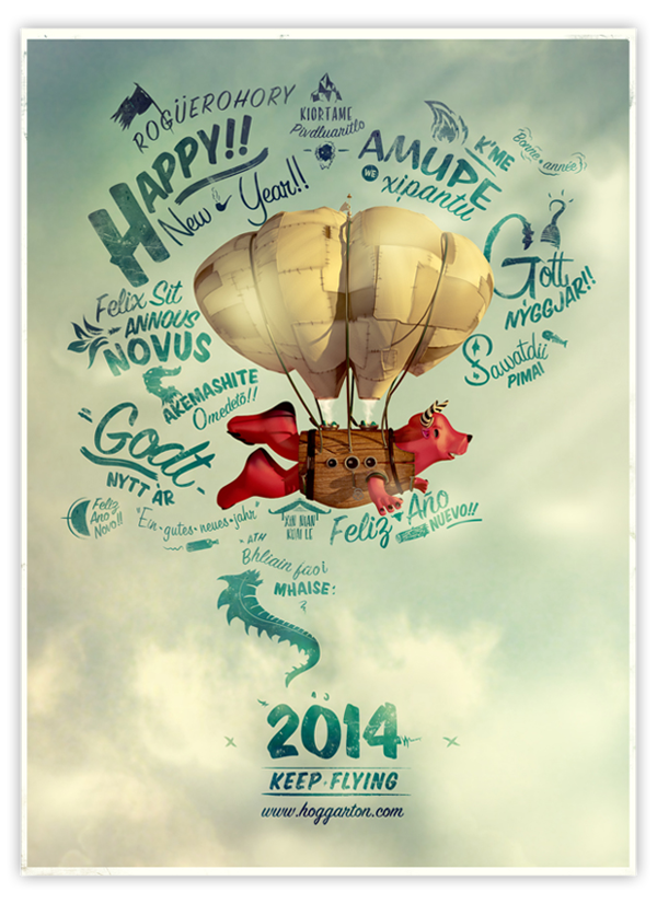 ilustraciones happy new year 2014