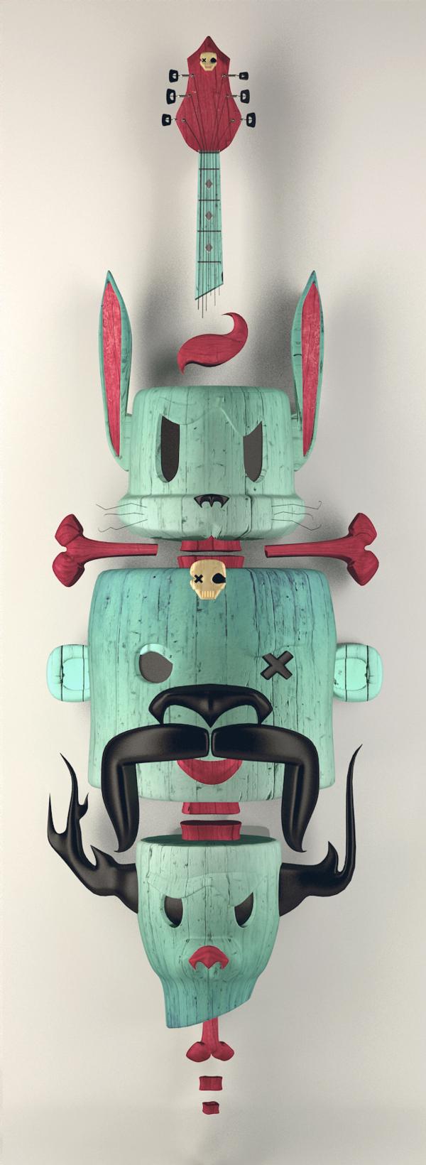 ilustraciones urkin skateboards