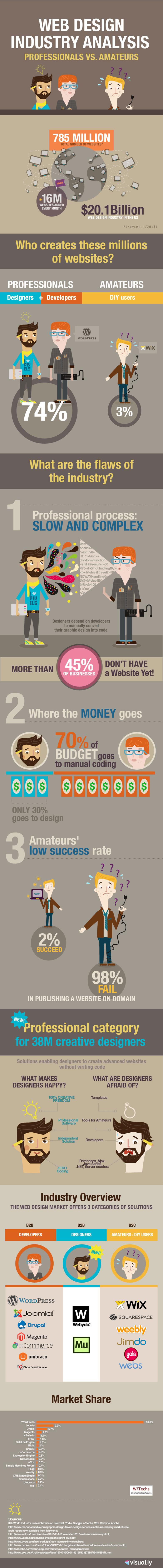 infografia diseño web profesional vs amateur
