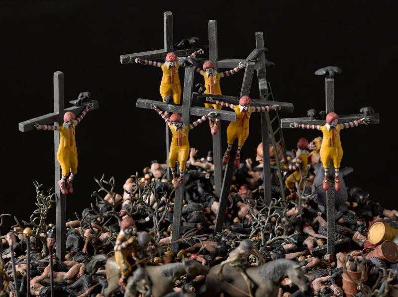 Diorama de McDonalds en el infierno, mcdonalds infierno 1