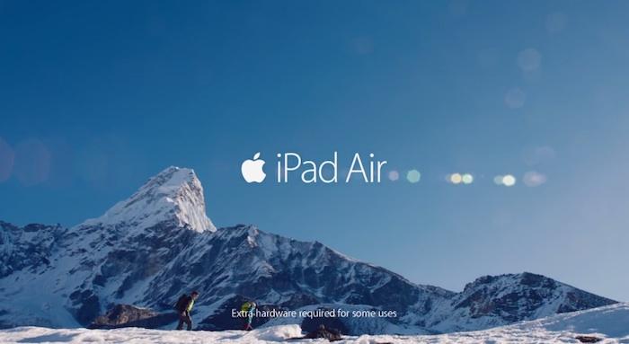 nuevo comercial del iPad Air