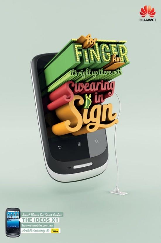 Publicidad de los telefonos Huawei