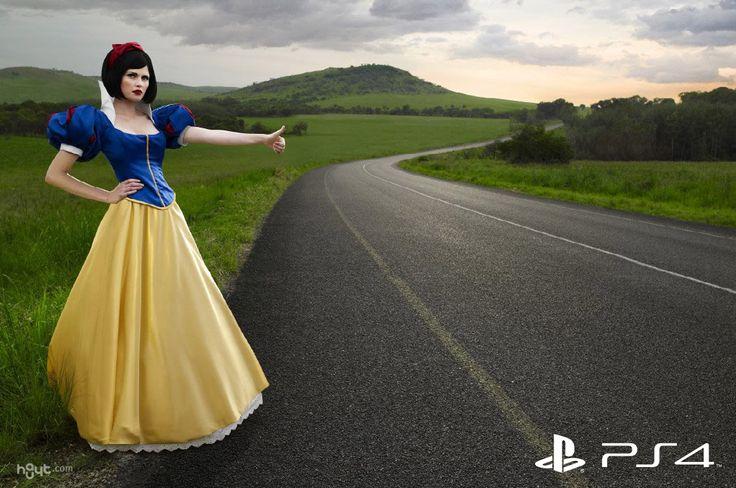Publicidad del lanzamiento del PlayStation 4, los niños ya no quieres caricaturas de Disney