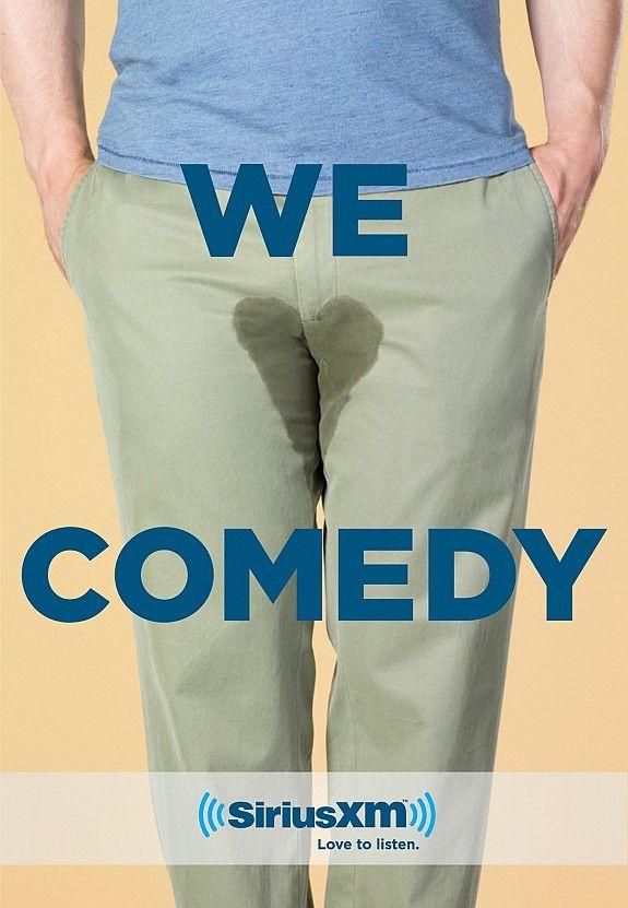 """""""Amamos la comedia"""" genial publicidad de una estación de radio: SiriusXM"""