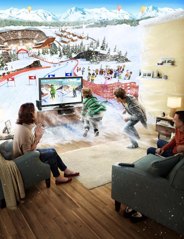 carteles publicitarios por Romain Laurent, Publicidad para Kinect Sbox 360