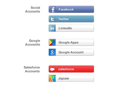 Paquete de botones de redes sociales para Login